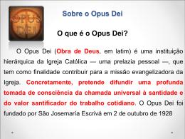 Sobre o Opus Dei