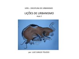 lições de urbanismo - Habitação e Cidade