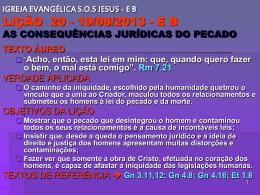 As consequências jurídicas do pecado