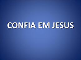 Confie Em Jesus - Recurso Bíblico