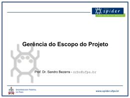Gerência de Escopo - Universidade Federal do Pará
