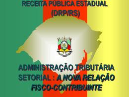 A ADMINISTRAÇÃO TRIBUTÁRIA SETORIAL
