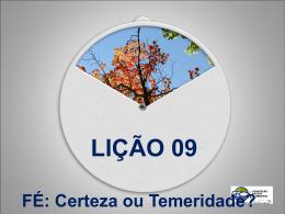 Lição 9 - FÉ - Convenção Batista Fluminense