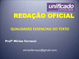 TRT4 REDAÇÃO OFICIAL - Unificado Concursos