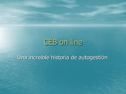 CEB on line - Utemvirtual