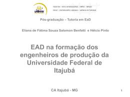 Pós-graduação – Tutoria em EaD