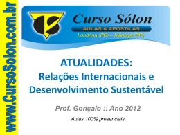 Relações Internacionais e Desenvolvimento Sustentável