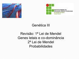 Genética III 2012