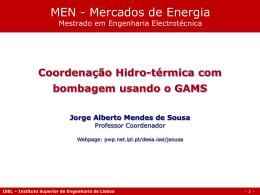 Coordenação Hidro-térmica com Bombagem
