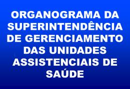 Apresentação do Organograma SUNAS