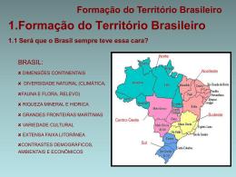 Formação do Território Brasileiro II