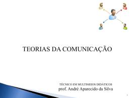 Teorias da Comunicação - Arquivo formato