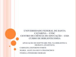 universidade federal de santa catarina – ufsc centro de ciência de