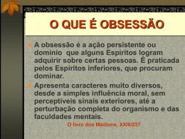 OBSESSÃO - Federação Espírita Brasileira