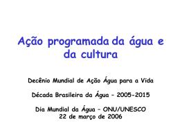 Projeto Água e Cultura