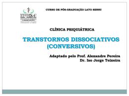 TRANSTORNOS DISSOCIATIVOS (CONVERSIVOS)