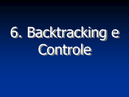 Backtracking e Controle