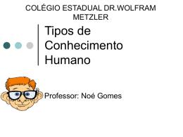Tipos de Conhecimento Humano