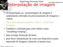 4 - Interpolação e Topologia da Imagem Digital