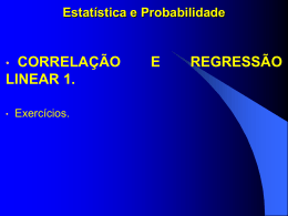 1. correlação e regressão linear