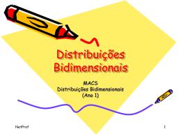 Distribuições Bidimensionais
