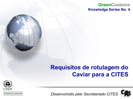 Requisitos de rotulagem do Caviar para a CITES