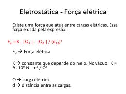 Eletrostática - Força elétrica