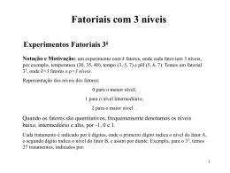 Fatoriais com 3 níveis