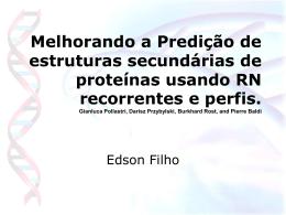 Melhorando a Predição de estruturas secundárias de proteínas em