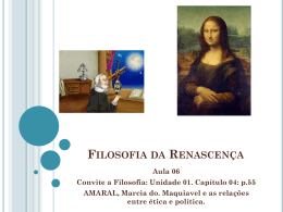 Filosofia da Renascença e Filosofia Moderna