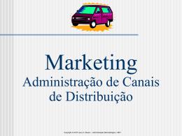 ADMINISTRAÇÃO DE CANAIS DE DISTRIBUIÇÃO
