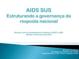 PPT - Departamento de DST, Aids e Hepatites Virais