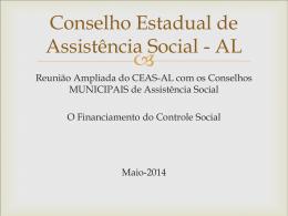 Financiamento do Controle Social - Assistência e Desenvolvimento