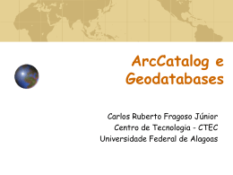 Geodatabase - Universidade Federal de Alagoas