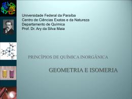 geometria e isomeria - Departamento de Química