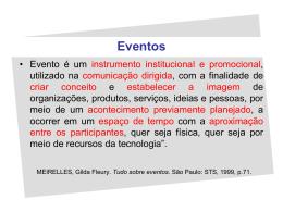 Noções de eventos Aula 3