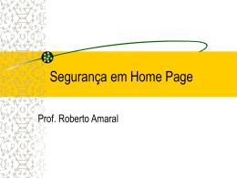 Seguranca Pagina Web