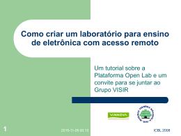 O Laboratório VISIR