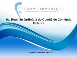 Apresentação Comitê Comércio exterior