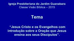 Conhecendo o Deus a quem oramos - 08 02 2015