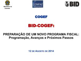 PRE CONFAZ Preparação PROFISCO II v3 11Ago2014 tarde