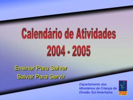 Calendário de Atividades 2004