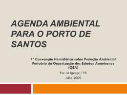 Agenda Ambiental para o Porto de Santos