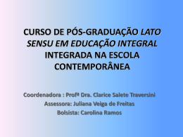 curso de pós-graduação lato sensu em educação integral integrada