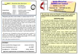 boletim IMBT - Igreja Metodista da Barra da Tijuca
