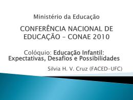 Ministério da Educação CONFERÊNCIA NACIONAL DE