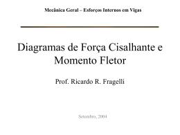 diagramas de força cisalhante e momento fletor – aula teórica