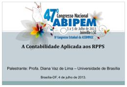 a contabilidade pública aplicada aos rpps