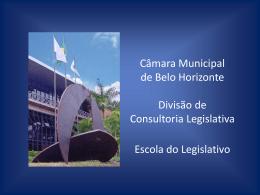 o poder legislativo e as novas formas de governança regional