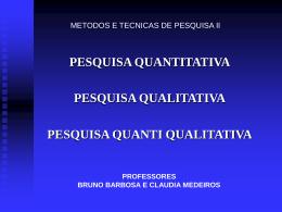 METODOLOGIA DA PESQUISA - Universidade Castelo Branco